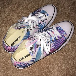 NWOB Converse Blue and Purple Floral Print